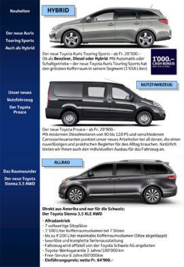 flückiger Autohaus - Toyota Neuheiten
