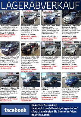 flückiger Autohaus - Lagerabverkauf